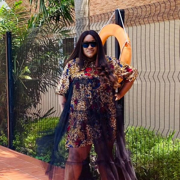 Sasha Ankara Tulle dress
